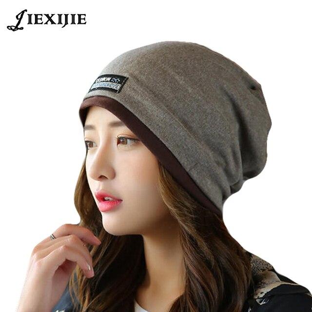 Corea del estilo de otoño e invierno Set cabeza cara delgada gorra de lana  de punto 90e649b60e7