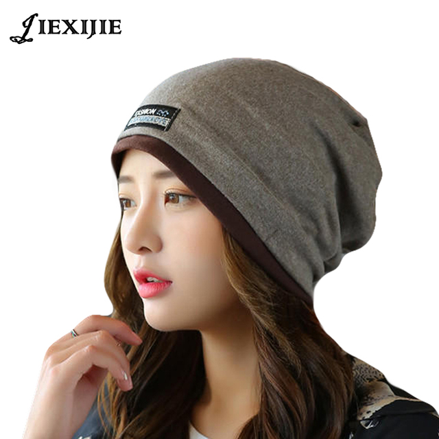 Korea Style Autumn and winter Set head cap Thin face cap Wool knitted Caps  Warm hedge cdedd391f81d