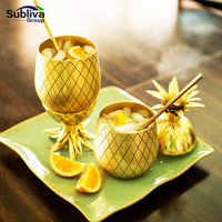 Pineapple Tumbler Gold Moscow Mule Mugs 900ml Beer Mug Stainless Steel Cup Cocktail Cup Wine Glass Drinking Bar Tool