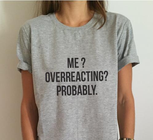 Мне слишком близко к сердцу, вероятно, Письма Печати Женщины футболка Хлопок Повседневная Смешные Рубашку Для Леди Серый Топ Тройник Hipster Z-297
