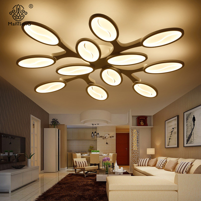 Led point ceiling light modern acrylic lampshade iron simple lamp ac fixtures illumination for parlor hall