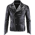 Factory Men Leather Jacket Genuine Brand Skull Short Men's Motorcycle Coat Size 5XL Spring Autumn Jaqueta 18Y998