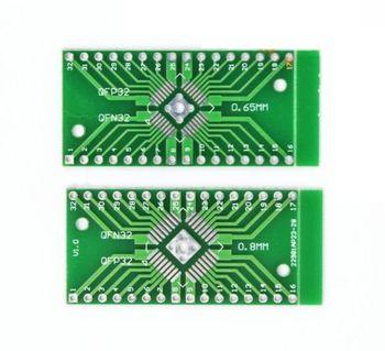5pcs TQFP/LQFP/EQFP/QFP32 0.8mm to DIP32 Adapter PCB Board Converter SMD - discount item  10% OFF Active Components
