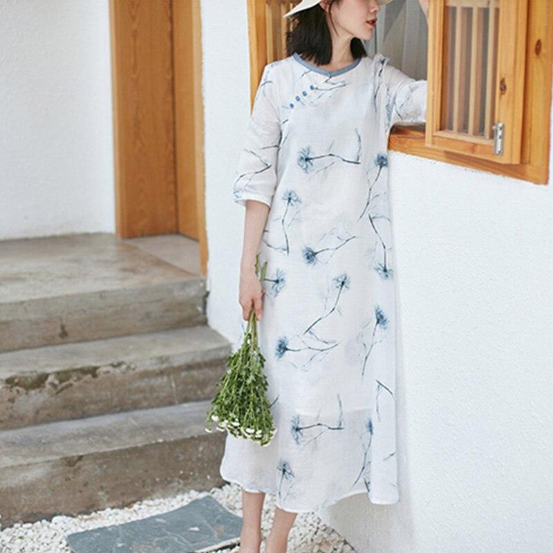 SCUWLINEN 2019, vestido de verano de mujeres, S846-in Vestidos from Ropa de mujer    1