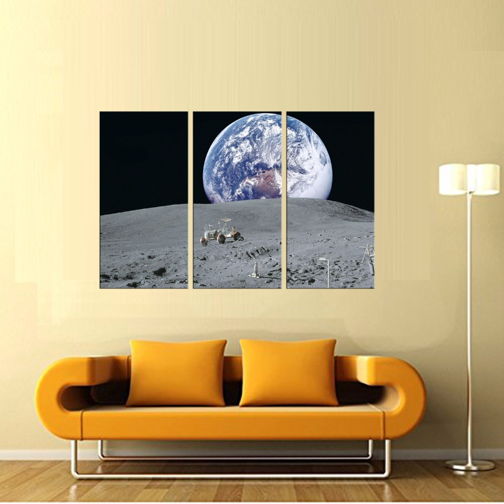 Latest Wall Decor 3 Panel Modern Wall Art Home Decoration Frame ...