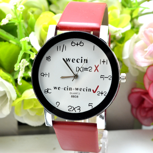 Wecin creative fashion men and women type neutral watch mathematical addition and subtraction 2108