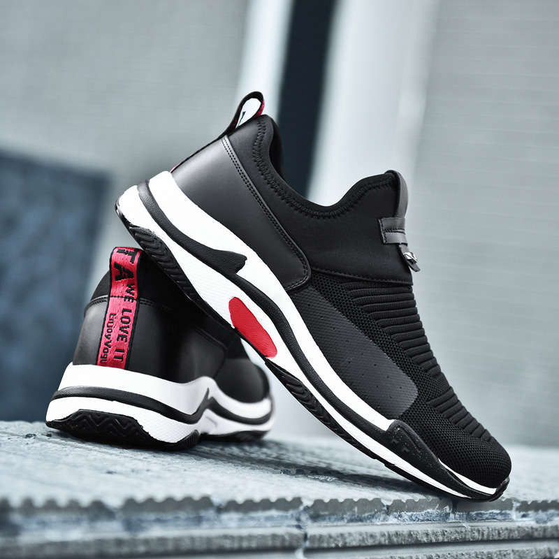 2018 summer Hot Sale Sneakers Breathable Mesh Slip On Men comfortable shoes Lightweight Mens running sports Shoes big size w5