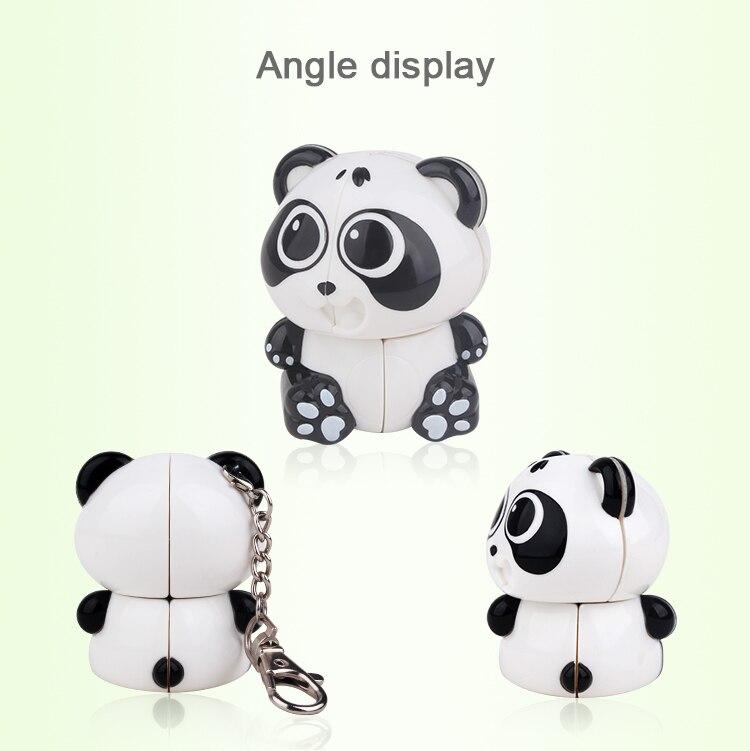 Yuxin 2x2 Mini Panda Keychain Magic Cube Puzzle 2x2x2 Cubo Magico Professional Educational Toys For Kids