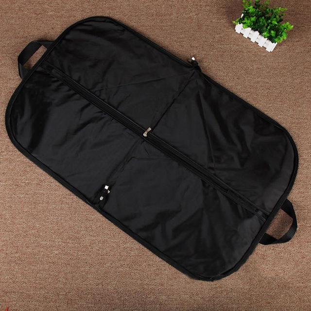 1pcs Black Suit Storage Bag Dress Coat Garment Non Woven Cover Hanging