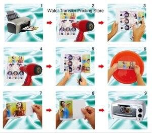 Image 2 - شحن مجاني A4 الحجم (20 أجزاء/وحدة) لون شفاف/شفاف ورق طباعة نقل المياه النافثة للحبر ورقة لاصقة مائية