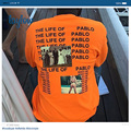 Kanye west the life of Pablo ulzzang orange long-sleeved T-shirt render men and women