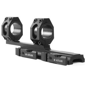Image 2 - 25.4 30mm 퀵 릴리스 듀얼 링 스코프 마운트 전술 캔틸레버 빠른 분리 라이플 Picatinny Rail Airsoft Hunting Accessories
