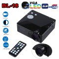 Mini LED Projector BL-18 LCD 500 Lumen Portable Pocket Projectors Home Theater Cinema Video Game Supports AV VGA USB HDMI