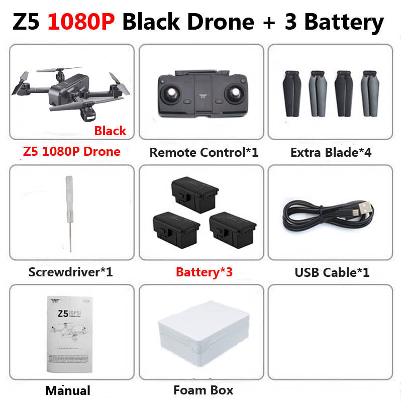 SJRC Z5 Profissional Foldable Drone with Camera 1080P HD GPS 5G Wifi FPV Optical Flow RC Quadrocopter Helicopter Toys SG106 E58