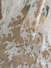 Alencon Lace Fabric in Off White for Wedding Gown Bridal Dress Veil Costume Boleros Bodices