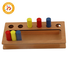 Montessori Material Wooden Toy Toddler Imbucare Peg Box Children