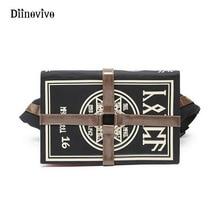 Diinovivoアニメゴシックバッグマジックブック形状クロスボディバッグユニセックスパンクデザイナー胸バッグレトロ女性のバッグヴィンテージギフトWHDV0154