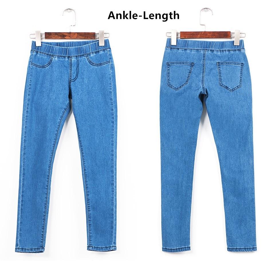 Women Plus Size Casual Slim Stretch Cotton Denim Jeans Blue black 40