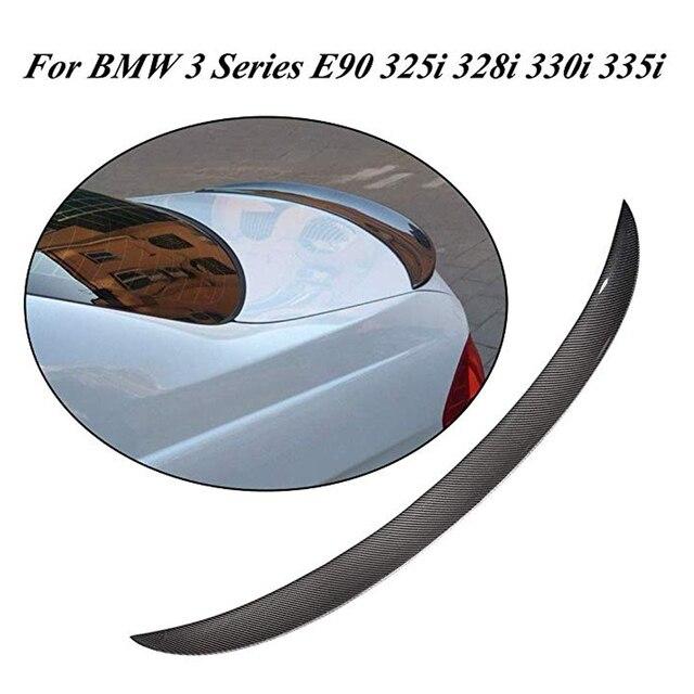 Carbon Fiber Rear Spoiler Trunk Boot Lip Wing For BMW 3 Series E90 Sedan 4 Door 06-11 M3 M Sport 323i 325i 328i 335d 335i