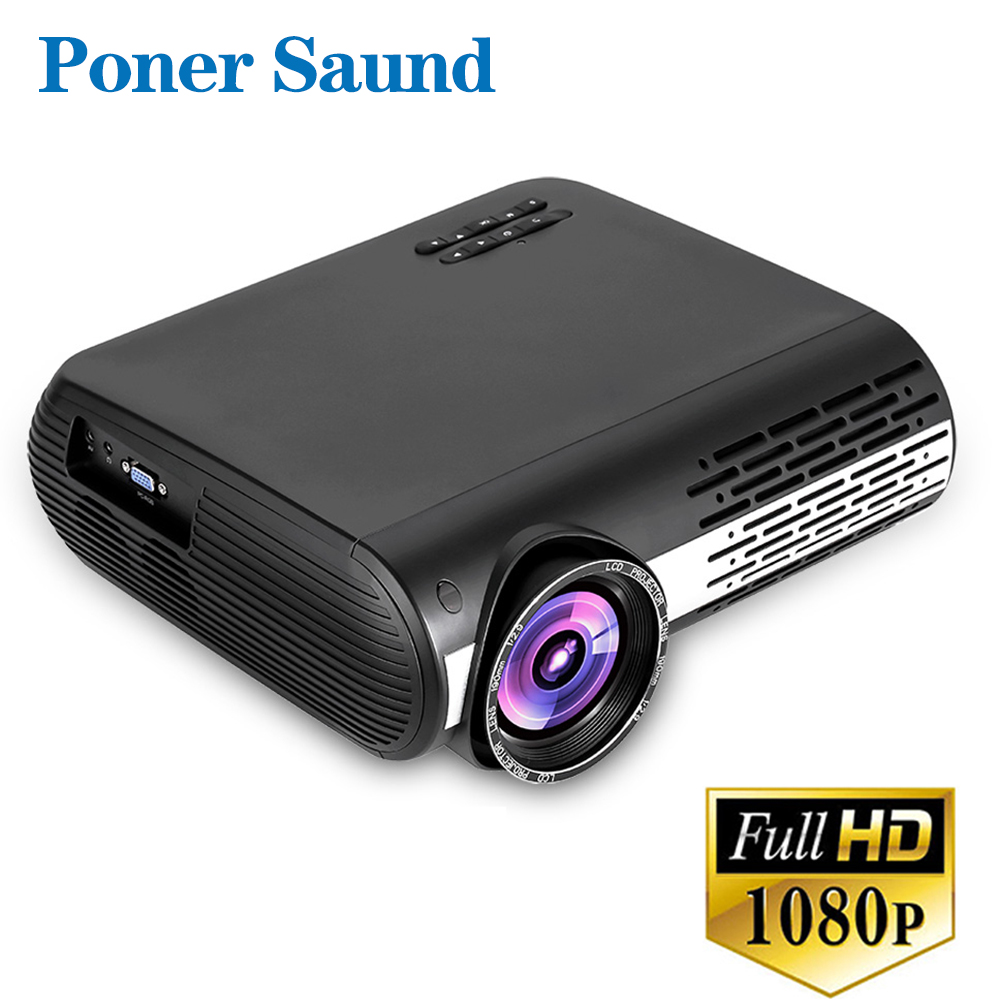 Poner Saund M2 FULL HD 1080P LED Projector Home Beamer Optional Android 6.0 Version WiFi HDMI USB Video 1080 Bluetooth Proyector poner saund 4800 lumens wifi 3d home theater 1280x800 pc multimedia 1080p hd video hdmi usb portable lcd led projector proyector