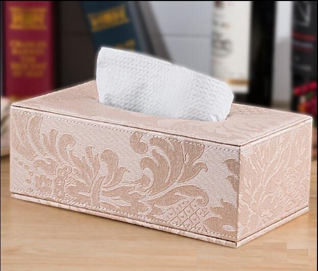 PU Leather napkin holder tissue box Pattern House hold