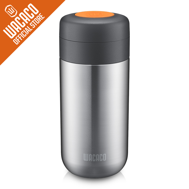 Wacaco Nanovessel,3-in-1 Vacuum Insulated Flask-Tumbler,Tea Infuser And Water Tank.Thermos Cup Accessory For Nanopresso Machine.