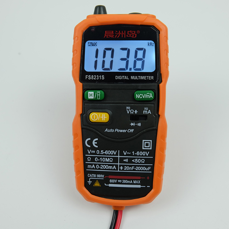 FS8231S Digital high-precision multimeter AC/DC widerstand kondensator mini Anti-brennen Digital Multimeter intelligente Auto Range image