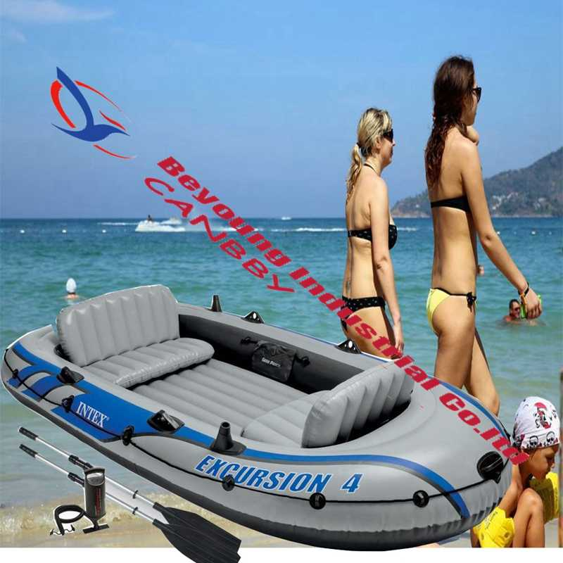 Intex Excursion Sport Boat Inflatable PVC Boat Fishing Kayak