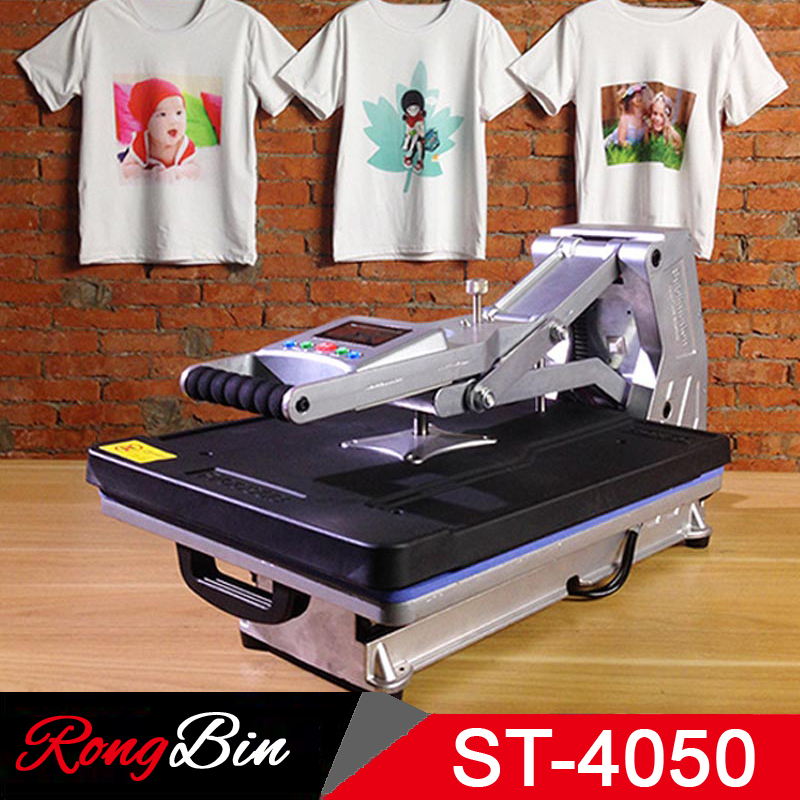 ST-4050A 40x50CM Hydraulic Sublimation Heat Press Machine T-shirt Press Machine for Phone Case/Bag/Puzzle/Rock/Glass/Wood Photo wtsfwf freeshipping 3d sublimation printed mold sublimation metal moulds heat press moulds for wireless mouse
