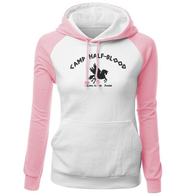 Hoody For Female 2018 New Autumn Fleece Winter Sweatshirts Print Camp Half Blood Demigods Animal Kawaii Women's Tracksuits Kpop