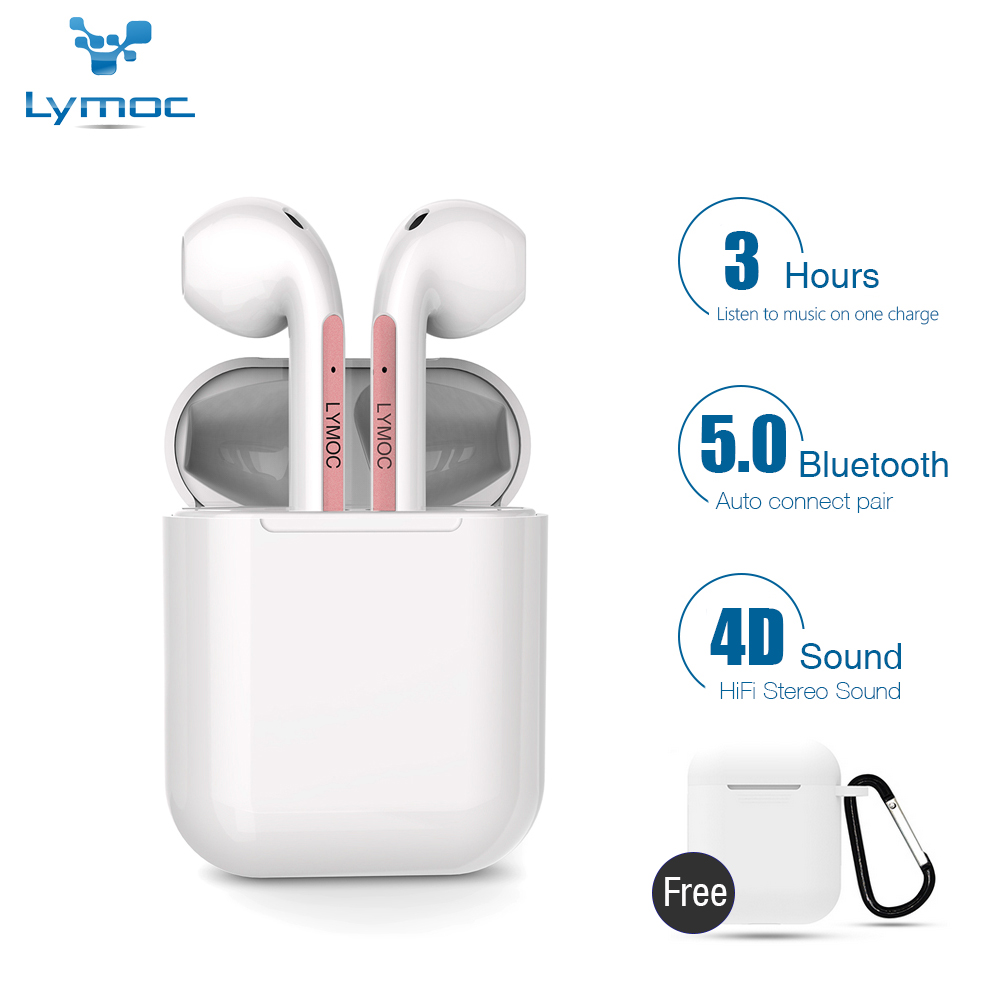 LYMOC Y22 Bluetooth Earphone 5.0 TWS Wireless Earbuds Auto Paired Stereo Sport Headset With HD Mic Smart Voice For IPhone Xiaomi
