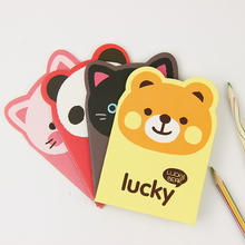 2 PCS Mini Animal Notepad Cartoon Panda Notebook Lightweight Portable Diary Book for Student Gift Office Stationery Supplies 1 pcs color edge wedding notebook notepad girl diary student office stationery gift school supplies creative trend cute notebook