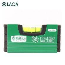 Fita de medição vertical horizontal do nivelador do laser da liga de alumínio portátil mini de 100mm