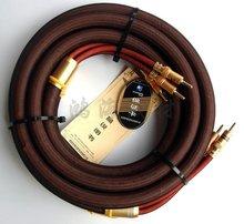 Choseal lb-5109 6N occ Audiophile HiFi Динамик кабель 24 К Позолоченные Banana Plug 2.5 м не DIY (пара)