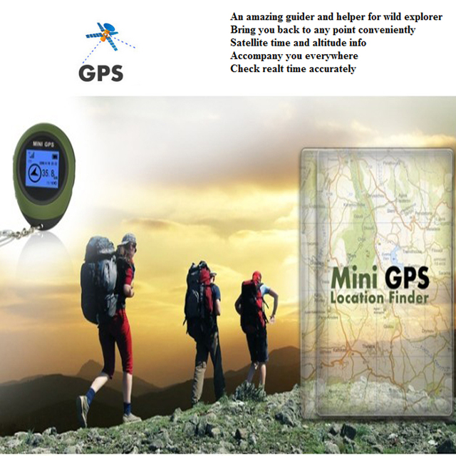 Podofo Mini Handheld GPS Navigation Receiver Location Finder Electronic Compass 6