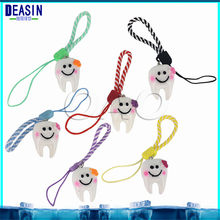 10pcs Cute smiley face teeth mobile phone chains keychain accessories cute baby face pendants Keychain creative gifts(China)