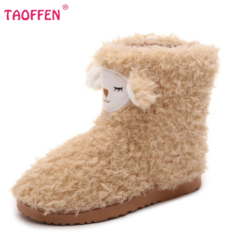 Kitty pattern at home plush thermal cotton boots floor xmas boot plush