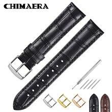 Ремешок для часов chimaera кожаный черный/коричневый браслет