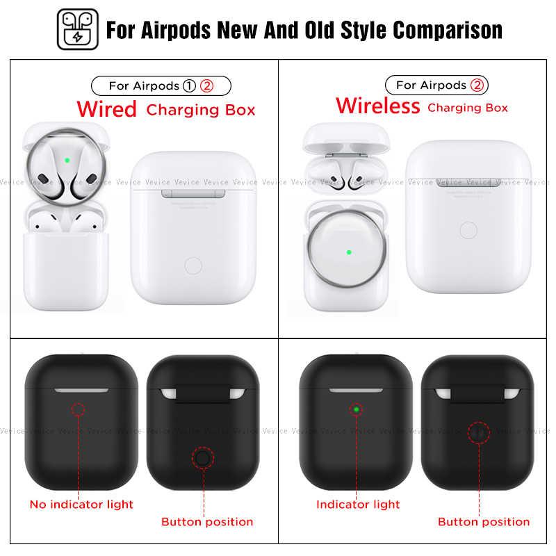 Ốp Trường Hợp Cho AirPods 2nd Sang Trọng Bảo Vệ Tai Nghe Dành Cho Apple Airpods2 Không Vỏ 2 Chống Sốc Tay Có Móc Treo