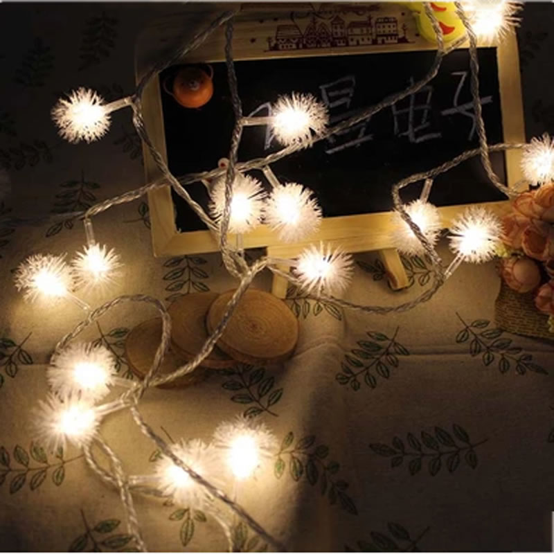 3m 30leds fur ball snowball 3 aa battery powered fairy led string 3m 30leds fur ball snowball 3 aa battery powered fairy led string lights outdoor christmas new year garden decoration in led string from lights lighting mozeypictures Gallery