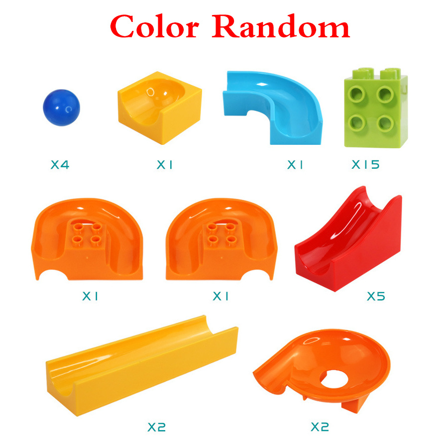 32Pcslot LegoINGly Duplo Building Block Wall BasePlate Designer Marble Race Run Blocks Educational Toys For Kids Christmas Gifts (2)