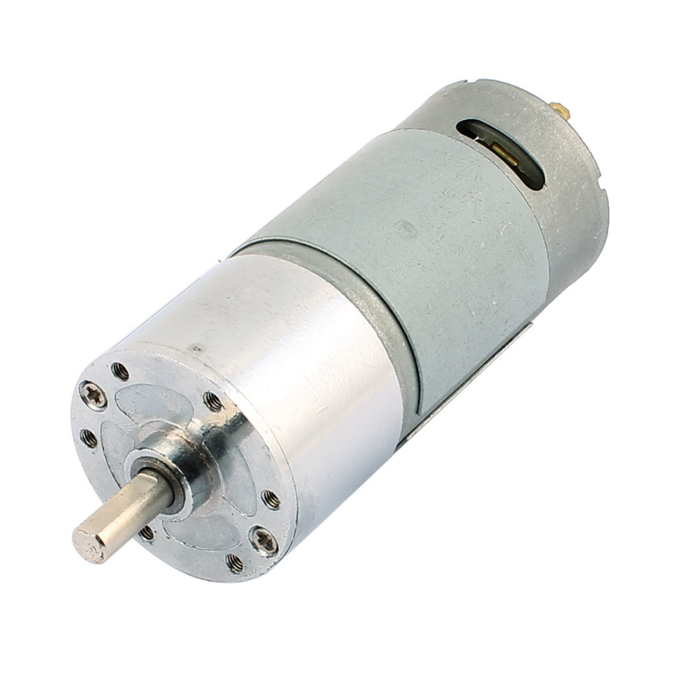 все цены на Uxcell Newest 1 Pcs DC 12V 200RPM 6mm Dia Shaft High Torque Solder Cylindrical Gear Box DC Motor онлайн