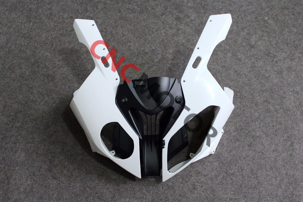 Unpainted front upper fairing cowl nose left and Right Side bodyowrk kit for BMW S1000RR 2010 2012 2013 2014 unpainted front nose top fairing for triumph daytona 675 2009 2012 10 11 upper cowl