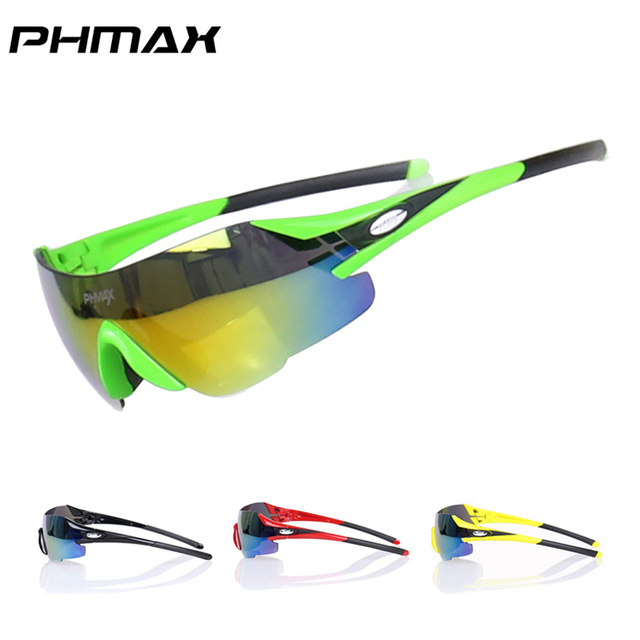 PHMAX Brand Ultralight 23g Colorful Sports Cycling Sunglasses/Mountain Bike Goggles/Riding Bicycle Glasses Cycling Eyewear
