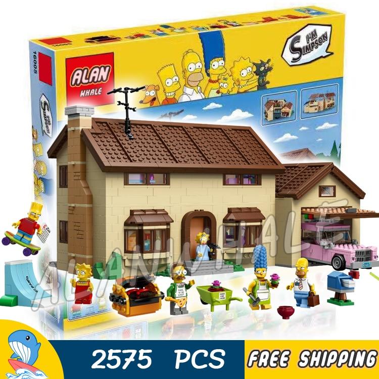 2575 шт. Семья Симпсонов дом праздник хобби Строительство 16005 DIY Модель Строительные блоки Детская игрушка кирпич совместим с Lego