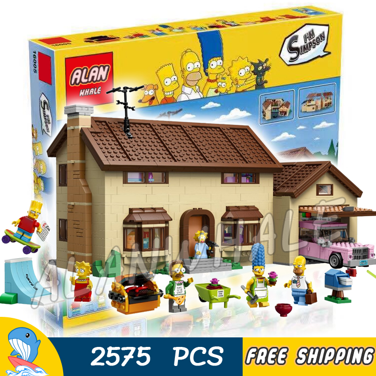 2575pcs Simpsons Family House Holiday Hobby Construction 16005 DIY Model Building Blocks Children Toy Brick Compatible with Lego wood building construction blocks simulation house toy diy cottage hand assembled building house model toy blocks birthday gift