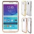 Горячая алмазный кристалл горного хрусталя шику металлический каркас бампер чехол для Samsung Galaxy примечание 4 N9100 мобильный телефон чехол