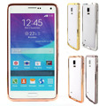 Caliente diamante cristalino de Bling del Rhinestone del Metal caja de parachoques del marco para Samsung Galaxy Note 4 N9100 caja del teléfono móvil
