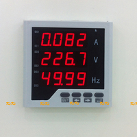 with RS485 Flame retardant AC A & V & Hz combination meter AC0 450V,AC0 5A,50Hz ampere voltage frequency digital panel meter