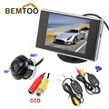 """BEMTOO 360 grados CCD Que Invierte el Estacionamiento de La Cámara + 3.5 """"LCD Monitor + Adapt Inalámbrico Retrovisor Del Coche Kit, Envío Libre envío libre por HKPAM"""